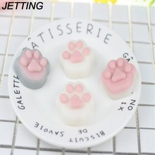 Japan Mochi Squishy Cat Claw Footprint Kawaii Animal Slow Rising Phone Strap Bread Toy For DIY Phone Case(China)