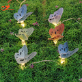 Бабочка струнные светильники фея волоконно-оптических Рождественские светодиодный свет главная сад огни санта батарейках партии 3 В AA закрытый