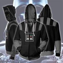 Movie Star Wars Hoodies Sweatshirt Costumes Cosplay Darth Vader Anakin Skywalker Coat Jacket Outwear