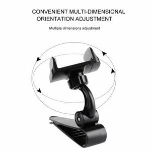 Image 3 - אוניברסלי לרכב מגן שמש טלפון מחזיק 360 תואר סיבוב רכב ניווט הר Stand קליפ טלפון נייד סוגר אבזר