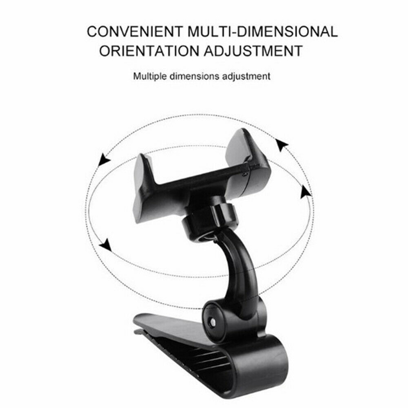Image 3 - Universal Car Sun Visor Phone Holder 360 Degree Rotation Automobiles Navigation Mount Stand Clip Mobile Phone Bracket Accessory-in Ornaments from Automobiles & Motorcycles