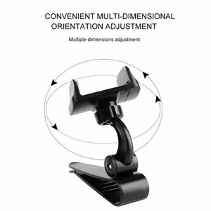 Image 3 - Universal Car Sun Visor Phone Holder 360 Degree Rotation Automobiles Navigation Mount Stand Clip Mobile Phone Bracket Accessory
