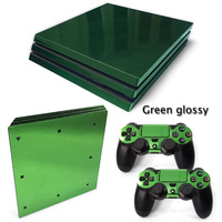 Green Glossy Vinyl protective Skin Sticker for sony playstation 4 Pro for PS4 Pro sticker China manufacturer free shipping