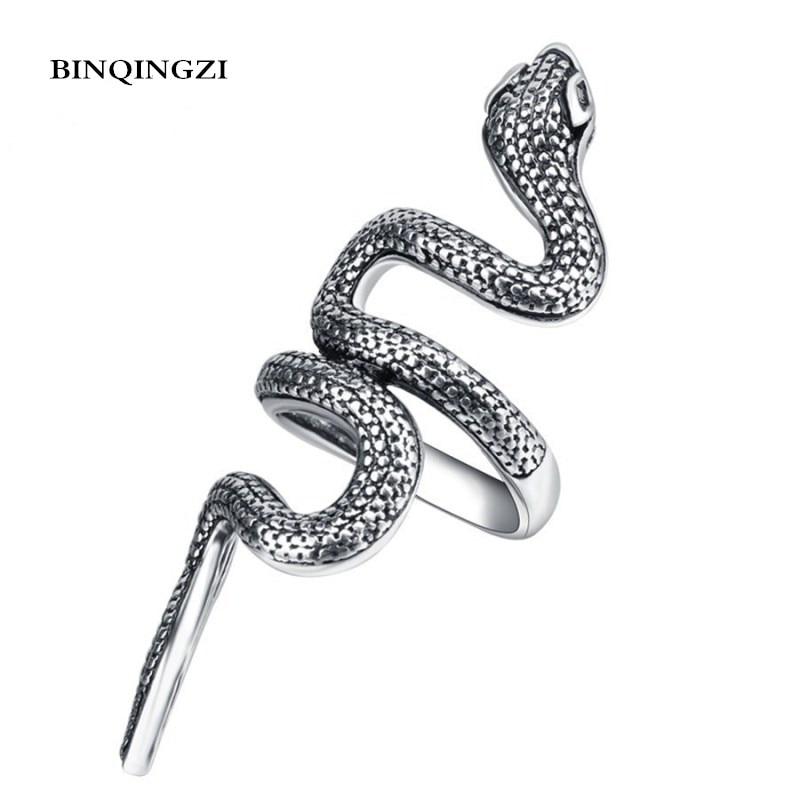 1 Pcs Fashion Snake Pattern Design Long Rings Finger