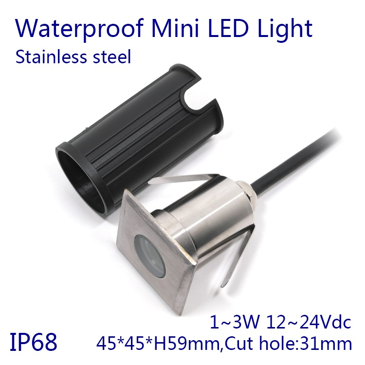 5pcs/lot Dimmable 3W Underwater Lights RGB Surface Mounted LED Swimming Pool Light IP68 Waterproof 12V 24V Pond Lights Lamp