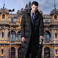 2017new long down jacket men's business suits black down coat thick down jacket men SHENOWA