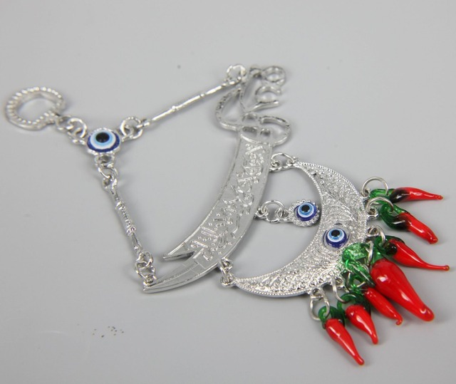 Hand Made Turkish Evil Eye Lucky Pendant Charm Nazar Boncugu Wall Door Hanging 50pcs/lot : door charm - Pezcame.Com