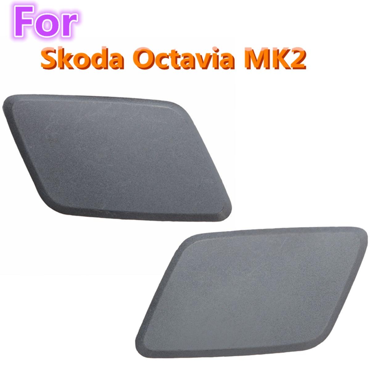 2pcs Car Left Right Headlight Washer Nozzle Jet Cover Cap for Skoda Octavia MK2 N S F