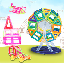 DIY Creative Magnetic Blocks Mini Size Colorful Magnetic Building Construction Blocks Assembling Robot Gift For Children Toy