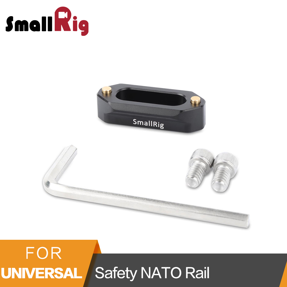 SmallRig Quick Release Safety Nato Rail (46mm) With 1/4 Screws For Nato Handle EVF Mount - 1409SmallRig Quick Release Safety Nato Rail (46mm) With 1/4 Screws For Nato Handle EVF Mount - 1409