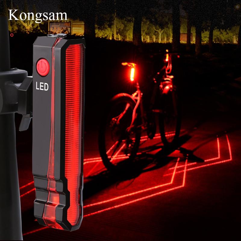 GIYO USB Rechargeable Taillight Bike Warning Light Cycling LED Tail Light Waterproof MTB Road Bike Bicycle Rear Light Back Lamp