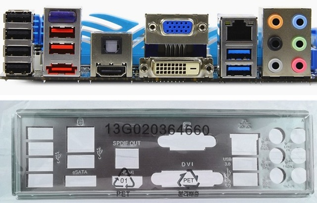 US $13 58 15% OFF|New I/O shield back plate of motherboard for P8Z68 V  PRO/GEN3 P8Z68 V/GEN3 just shield backplate Free shipping-in Motherboards  from