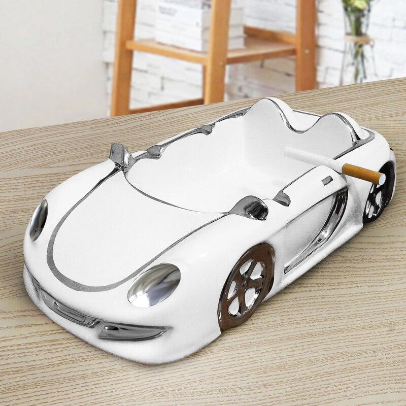 Cendrier européen en céramique personnalité mode voiture modèle cendriers maison chambre cendrier plateau cadeaux pour hommes cendriers extérieur intérieur