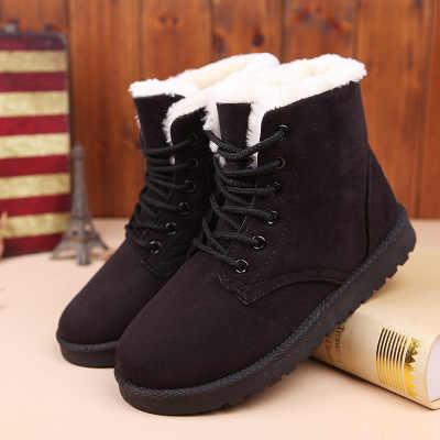 SZSGCN428 Kadın Botları Kış sıcak Kar Botları Kadın Faux Süet yarım çizmeler Kadın Kış Ayakkabı Botas Mujer Peluş Ayakkabı Kadın