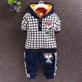 2017 новых детских осень и зима новый детская обувь детская мода устанавливает почтовый костюм детская одежда случайный мальчик костюмы 2-4 лет