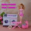 Новые детские игрушки кукла аксессуары мебель для дома Девушка подарок на день рождения пластиковые Игровой Набор химчистка Прачечная Центр для куклы барби