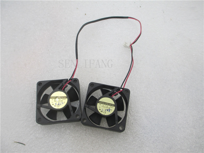 Free Shipping 3cm 3510 35x35x10mm CPU Cooler Cooling Ultrathin 2 Wire 2pin AG03512HB105100 12V 0.12A