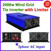 MPPT 2000w 2kw wind grid tie inverter 3 phase ac 45 90v free shipping with limiter function use excellent quality