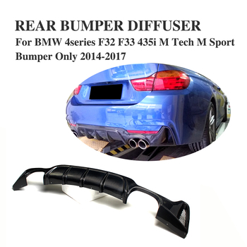 Car Styling Carbon Fiber/Fiber Glass Rear Bumper Lip Diffuser Spoiler For BMW 4 Series F32 Coupe F33 Convertible F36 Gran Coupe image