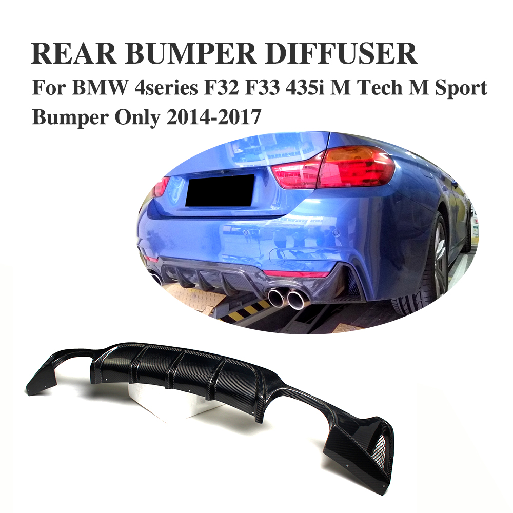 F32 F33 F36 Carbon Fiber Rear Bumper Lip Diffuser Spoiler for BMW F32 F33 F36 420i 428i 435i 420d 428d 435d M-tech M-Sport carbon fiber auto front lip splitter flags for bmw 4 series f32 f33 435i m sport coupe & convertible 2 door 2014 2016