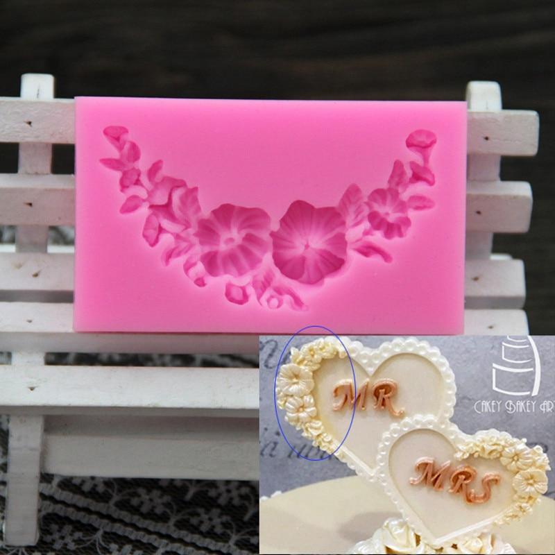 Luyou 1Pcs Lule Shape Silikoni Fondant Cake Forma Mjete Dekorimi Për Dekorimin e ëmbëlsirave për ditëlindjen FM110
