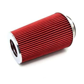 Uniwersalne zestawy Auto samochód wyścigowy sportowe filtr powietrza wlotowego filtr powietrza 3 #8222 115mm czerwony stożek urządzenie do czyszczenia filtrów odpowietrznik skrzyni korbowej tanie i dobre opinie universal 22 5cm 0inch 665g Air Intake Cone Filter Cleaner Vent Crankcase PHYUN UN015 Aluminum Plastic Non-woven fabrics