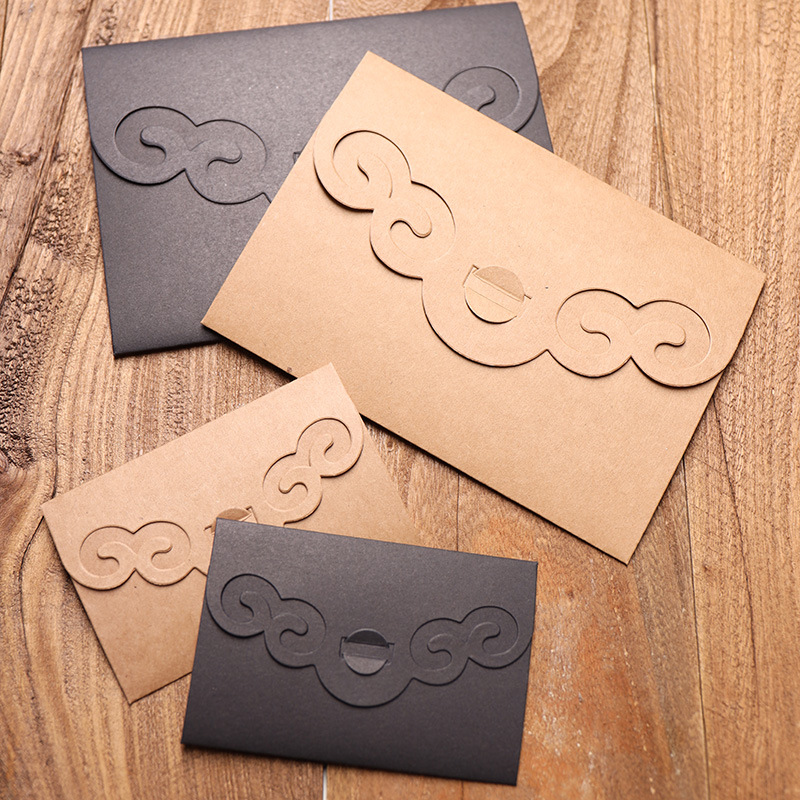 50pcs/lot Vintage Style Hollow Out Kraft Paper Thicken Envelopes For Birthday Christmas Wedding Writing Paper Gift Stationery