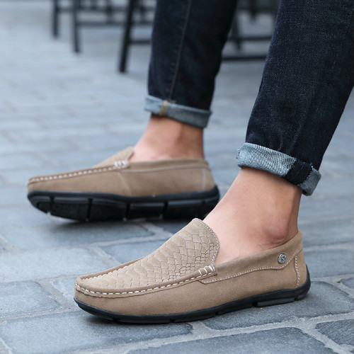 UNN Men Loafers Casual Boat Shoes Fashion Genuine Leather Shoes Slip On Driving Shoes Men Flats Mocassin Homme Zapatos Hombre loafers mens shoes luxury brand moccasin men flats shoes slip on leather shoes for men loafers zapatos hombre