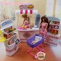 Новое прибытие девушки Детей подарок игра игрушка кукла дом Супер Рынка мебели для куклы барби, куклы аксессуары для барби, девушки подарок
