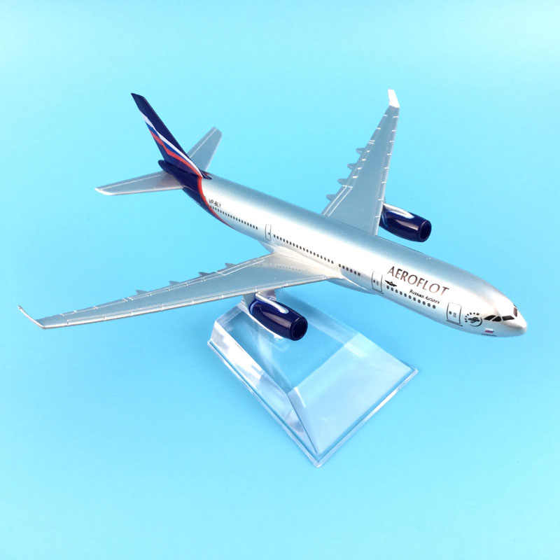 FREE SHIPPING AEROFLOT RUSSIAN AIRLINES AEROPLANE MODEL AIRBUS A330 AIRPLANE 16CM METAL ALLOY DIECAST 1:400 AIRPLANE MODEL TOYS