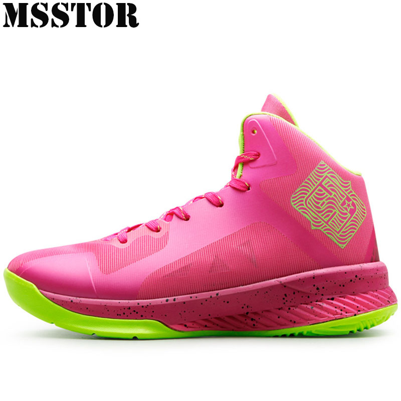 MSSTOR 2018 Women Men Basketball Shoes Man Brand Outdoor Athletic Sport Shoes For Men Lovers Large Size 37-48 Womens Sneakers p76 420 women s basketball size 6