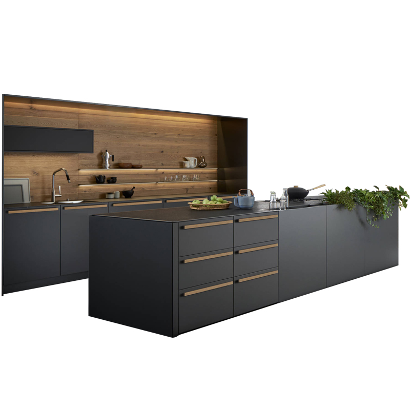 Home Furniture Waterproof Modular Modern Design Kitchen Cabinet With Stainless Steel Sink