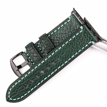 Fashion Green Leather Strap For iWatch Watchband with Adapter Buckle For Apple Watch Band 42mm 38mm Series 3/2/1