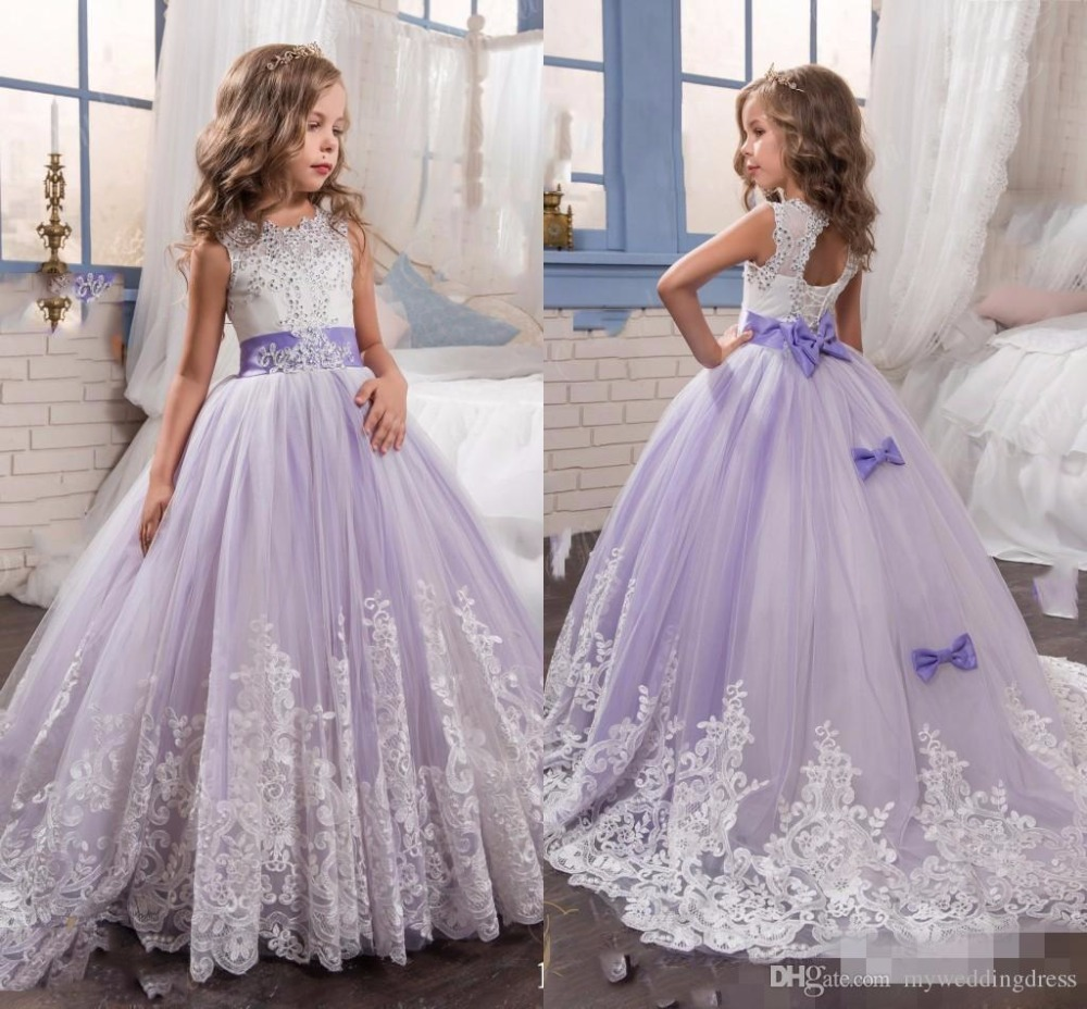 2017 purple christmas flower girl dresses with sash beads appliques 2017 purple christmas flower girl dresses with sash beads appliques bow girl dresses girls pageant dress in flower girl dresses from weddings events on mightylinksfo