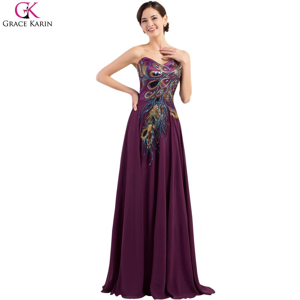Popular Purple Peacock Prom Dress-Buy Cheap Purple Peacock Prom ...