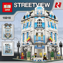 Lepin 15018 MOC Creator City Series The Sunshine Hotel Set Building Blocks Bricks Minifigures Toys