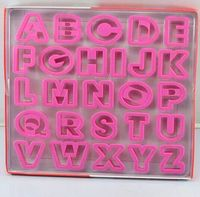 Family Baking Making 26 English Letters Set Biscuit Cutters Baby Favorite Alphabet Cookie Cutters Free Shiping
