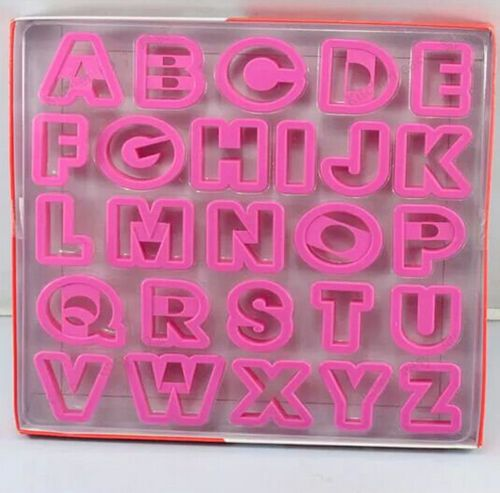 family baking design 26 English letters/set plastic biscuit cutters Cookie decorting alphabet cookie cutters free shipping