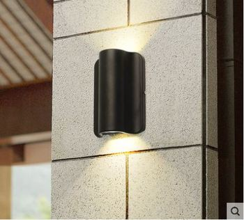 Exterior wall waterproof courtyard door wall modern minimalist creative outdoor villa balcony terrace LED outdoor wall lamp