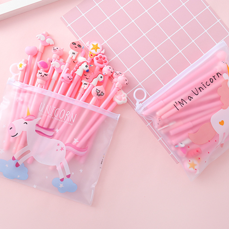 Cute Transparent Unicorn Cactus Pencil Case With 20 pens stationery set for boys girls Gift school suppliesCute Transparent Unicorn Cactus Pencil Case With 20 pens stationery set for boys girls Gift school supplies