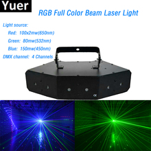 Six-eye scanning RGB laser beam light 430mW RGB Full Color DMX Projector Disco DJ Bar flash wedding Party Club Events Lighting цены онлайн