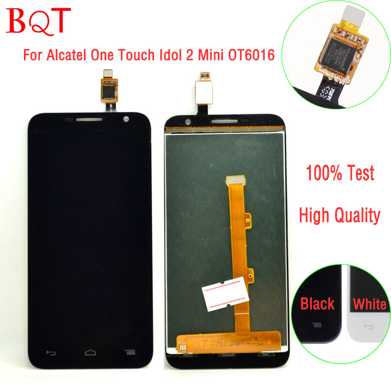 Best Quality 6016 LCD For Alcatel One Touch Idol 2 Mini OT6016 6016 LCD Display Touch Screen With Digitizer Full Assembly