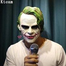 100% смола Joker маска Бэтмен костюм клоуна Косплэй фильм для взрослых партии Маскарад Маски для век для Хэллоуина Косплэй маска клоуна игрушка