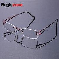 New 2016 Fashion High Grade Ultralight Titanium Flexible Rimless Glasses Frames Men Women No Lens Frame