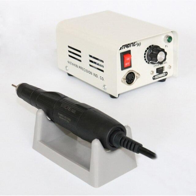 65 W 35,000 RPM Güçlü 90 102L 2.35 Elektrikli Tırnak Matkap Makinesi Manikür Pedikür Dosya Uçları Çivi heykel Sanat Ekipmanları
