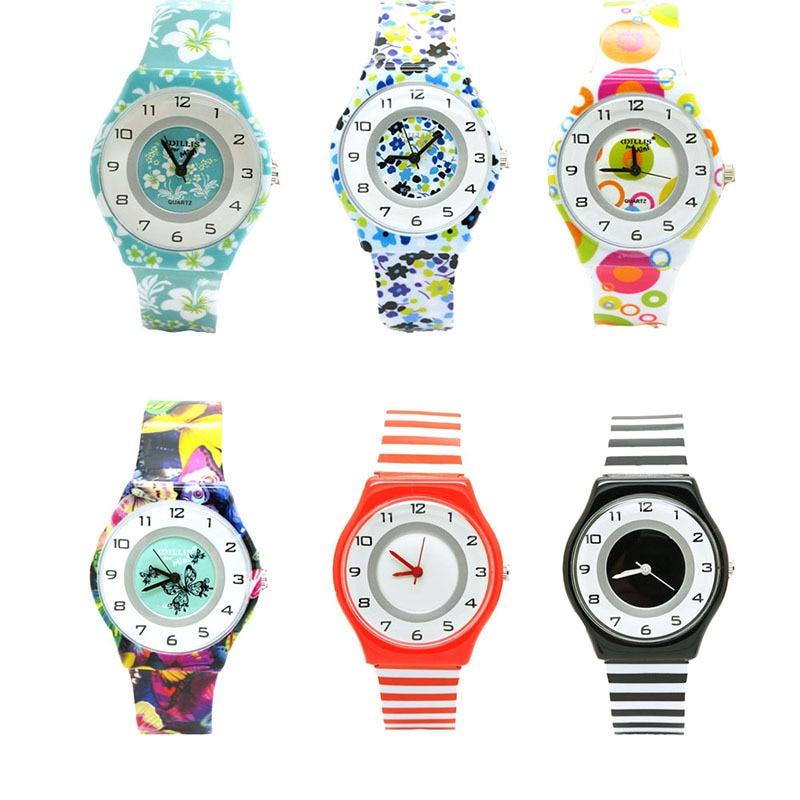 New Women Lady Flower Design Children Watch Girl Kids Waterproof Sports Quartz Wristwatches Relojes Casual Clock Kol Saati