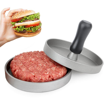 Aluminium Burger Presse Hamburger Maker Antihaft Patty Form Ideal für GRILL