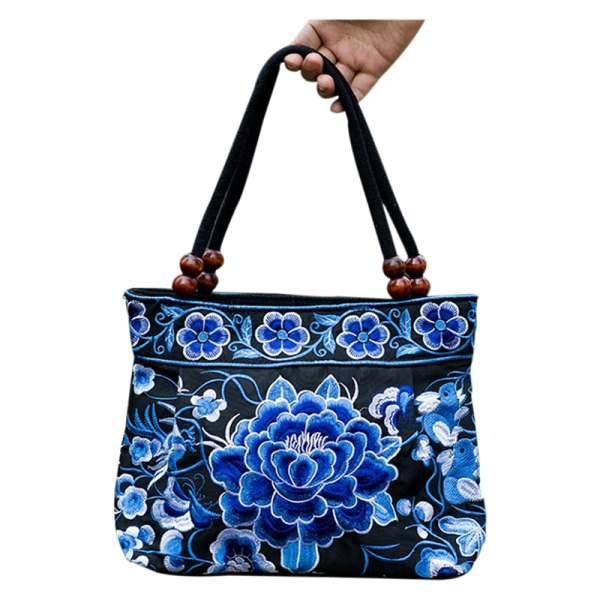 Chinese Style Women Handbag Embroidery Ethnic Summer Fashion Handmade Flowers Ladies Tote Shoulder Bags Cross-body chinese style genuine leather bag women handbag embroidery ethnic summer fashion handmade flowers ladies tote shoulder hand bags