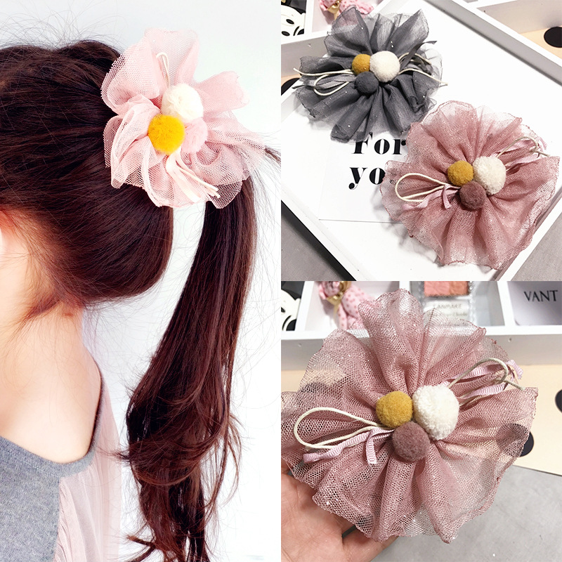 Ribbon Hair Accessories For Girls Korea Princess Hair Clips Flower Crown Hair Bows Hair Ornaments Rim Hairpin