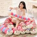 1 unidades 45-110 cm al por mayor de dibujos animados niña muñeca de trapo oruga dormir almohada cojín para el bebé regalo de cumpleaños de peluche juguetes